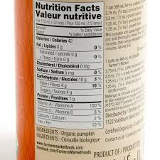 organic pumpkin purée canned