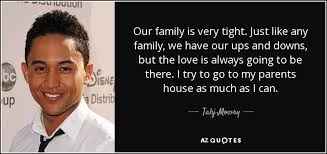 tahj mowry quote our family is very tight just like any family