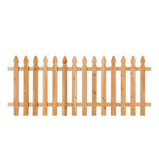 Unbranded 3 1 2 Ft X 8 Ft Cedar Spaced French Gothic Fence Panel 318736 The Home Depot