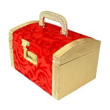 wedding bridal silver makeup box