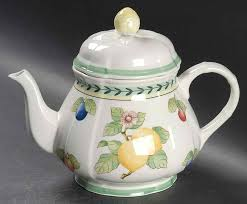 french garden fleurence teapot lid by
