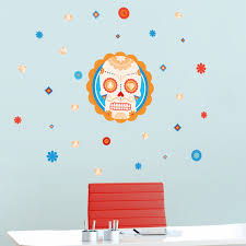 Mini Sugar Skull And Diamonds Printed Wall Decals Stickers Graphics