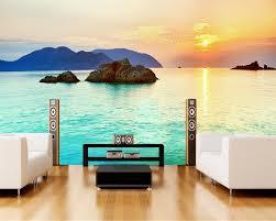 Beibehang خلفية مخصصة الجداريات الحديثة الأزياء شاطىء البحر الشروق