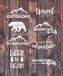 Adventure Decal Travel Decal Explore Decal Car Decal Yeti Decal Slrustic