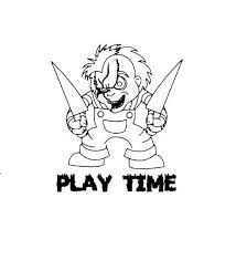 Chucky Play Time Vinyl Decal Sticker Etsy