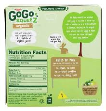 gogo squeez organic applesauce on