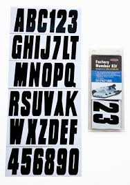 Inflatable Boat Lettering Registration Numbers 350