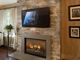stylish stone veneer fireplace surround