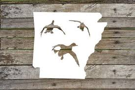 Arkansas State Duck Hunting Duck Hunting Vinyl Decal Duck Etsy