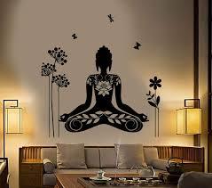 Buddha Wall Sticker Meditation Mantra Flower Butterfly Yoga Vinyl Deca Wallstickers4you