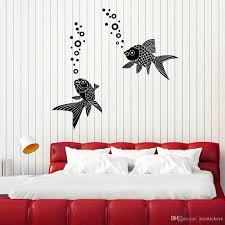 Aquarium Fish Wall Sticker For Living Room Sea Ocean Water Bubbles Vinyl Wall Decal Decor Bathroom Modern Home Decoration Quote Stickers For Walls Quote Wall Decals From Joystickers 14 2 Dhgate Com