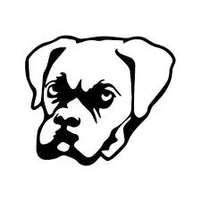 Boxer Puppy Dog Vinyl Sticker
