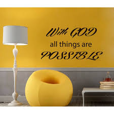 Shop With God All Things Are Possible Quote Vinyl Sticker Wall Art Overstock 10036761