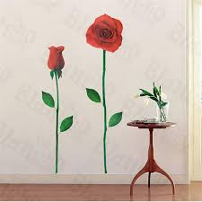 Glorious Rose 2 X Large Wall Decals Stickers Appliques Home Decor Walmart Com