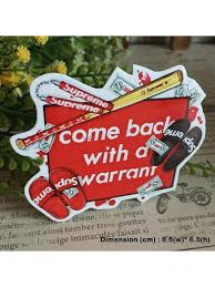 Supreme Warrant Hipster Indy Graphic Art Waterproof Vinyl Decal Sticker Skullangel Unique Handmade Clothing Embroidered Patches Waterproof Stickers For Diy Projects