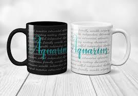 aquarius mug zodiac sign gift for