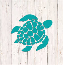 Sea Turtle Decal Sea Turtle Sticker Car Decal Wall Decal Etsy
