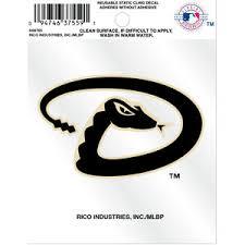 Arizona Diamondbacks Secondary Logo Static Cling At Sticker Shoppe