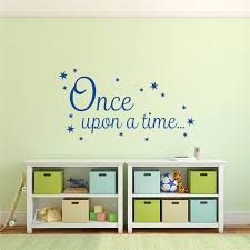 Once Upon A Time Decal Book Corner Quote Vinyl Wall Sticker Living Room Tile Kids Wall Environmental Ceiling Sticker Y170706 Vinyl Wall Stickers Wall Stickervinyl Wall Aliexpress