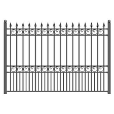 2 5 Ft H X 4 7 Ft W Madison No Dig Garden Fence Panel In 2020 Steel Fence Panels Garden Fence Panels Steel Fence