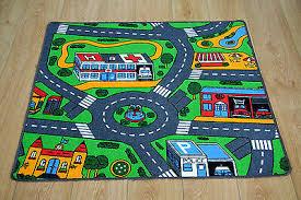 Road Map Children S Rug Kid S City Village Town Road Play Mat Ebay
