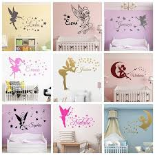 Hot Sale 7fae Fairy Custom Name Stars And Angel Art Vinyl Wall Sticker For Kids Room Girl Room Decorative Wall Decals Stickers Mural Wallpaper Cicig Co