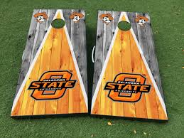 Product Oklahoma State University Cornhole Board Game Decal Vinyl Wraps With Laminated