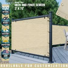 Amazon Com Tang 3 X 221 Beige Residential Commercial Privacy Deck Fence Screen 200 Gsm Weather Resistant Outdoor Protection Fencing Net For Balcony Verandah Porch Patio Pool Backyard Rails Garden Outdoor