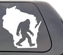 Amazon Com Bigfoot Wisconsin Vinyl Decal Bigfoot Wi Yeti Sasquatch Wall Window Door Car Truck Home Kitchen