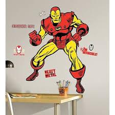 Iron Man 47 Giant Wall Decals Classic Marvel Room Decor Stickers Comics Avenger Ebay