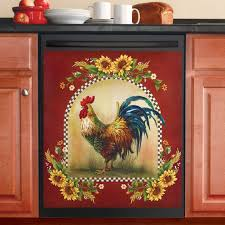 Sunflower And Rooster Country Dishwasher Magnet Collections Etc
