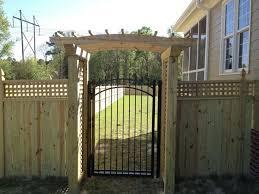 Wood Fence With Aluminum Gate Seegars Fence Co Aluminium Gates Backyard Diy Projects Backyard