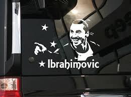 Soccer World Star Zlatan Ibrahimovic Vinyl Car Decal Sticker 6 5 W Ebay