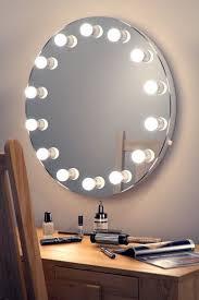 wall hanging circular hollywood mirror