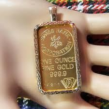 9ct gold new bullion bar bezel for one