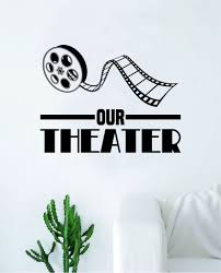 Our Theater Wall Decal Sticker Bedroom Room Art Vinyl Home Decor Quote Boop Decals