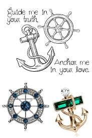 anchor and steering wheel nautical jewelry