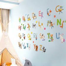 Dicor Cartoon Colorful 26 Letters Alphabet Wall Decal Sticker Home Decor Diy Removable Art Vinyl Mural For Kids Qt740kj 4mb Aliexpress