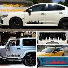 Truck Rear Window Vinyl Decal Custom Pine Trees Forest Sticker Subaru Jeep Dodge