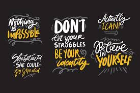 believe in yourself quotes custom designed illustrations