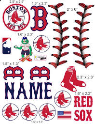 Boston Red Sox Cranial Band Decoration From High Quality Vinyl