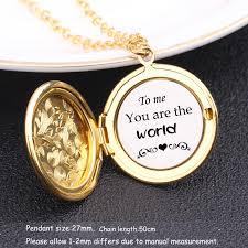 plate custom name locket pendant