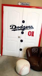 La Dodgers Jersey Doors Decor Handmade Baseball Bedroom Kids Sports Room Baseball Room