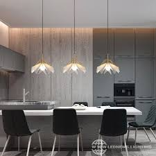 led pendant lights acrylic dining room
