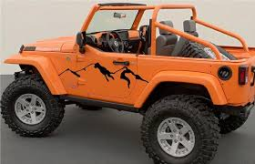 Mountain Vinyl Decals Kit For Jeep Xtreme Digital Graphix