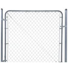 Yardgard 6 Ft W X 4 Ft H Galvanized Metal Adjustable Single Walk Through Chain Link Fence Gate 3283ad48 The Home Depot