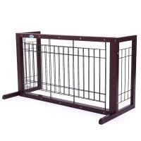 Indoor Adjustable Wooden Fence Pet Dog Gate Coziwow