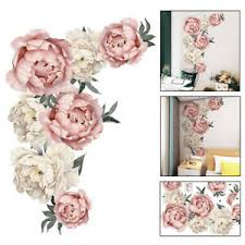 Large Peony Flowers Wall Sticker Floral Art Nursery Decals Home Kid Room Decor Ebay