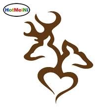 2020 Wholesale Car Accessories Browning Love Deer Hunter Hunting Cartoon Car Stickers Decorative Decals From Bulangying 23 12 Dhgate Com