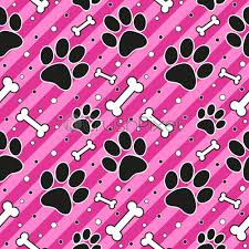 seamless cute paw pattern endless